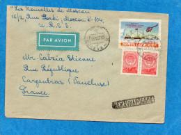 MARCOPHLIE-LETTRE -cad 1957-pour Françe-stamp -expéditioN Polaire N°1768 - 1923-1991 USSR