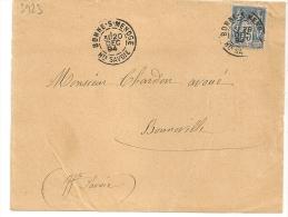 BONNE S MENOGE Haute Savoie Sur DEVANT D' Enveloppe SAGE. L2 - Marcophilie (Lettres)