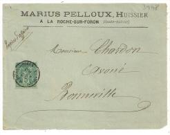 PAPIERS D 'AFFAIRES,  LA ROCHE Sur FORON  Haute Savoie Sur DEVANT D 'enveloppe SAGE. - 1876-1898 Sage (Type II)