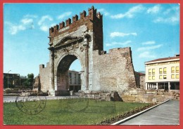 CARTOLINA VG ITALIA - RIMINI - Arco D'Augusto - 10 X 15 - ANNULLO RIMINI 1963 - Rimini