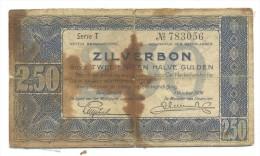 ZILVERBON 2.50 HALVE GULDEN - [3] Ministerie Van Oorlog Issues