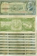 lot de 10 billets 5 pesos 1958 USAGES mais bel aspect