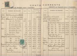 DE446-1932 LIBRETTO DEI CONTI COLONICI Con 6 VARIE MARCHE DA BOLLO Su 6 PAGINE - Historische Dokumente
