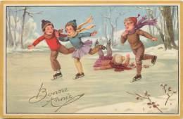 Themes Div - Ref K240- Illustrateur Enfants - Sports D Hiver - Patinage - Patins A Glace  - Carte Bon Etat  - - Illustratori & Fotografie