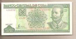 Cuba - banconota non circolata da 5 Pesos - 1997