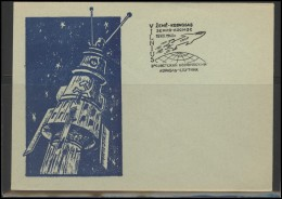 RUSSIA USSR Private Envelope LITHUANIA VILNIUS VNO-klub-024 Space Exploration Satellite - 1923-1991 USSR