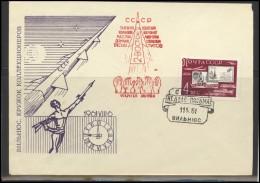RUSSIA USSR Private Envelope LITHUANIA VILNIUS VNO-klub-025 Space Exploration VOSTOK-2 Titov - 1923-1991 USSR