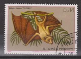 S Tome E Principe Gestempeld, Used ; Vleermuis, Chauve-souris, Murcielago, Fledermause, Bat - Vleermuizen