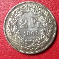 2 FRANCS 1860 B. - Zwitserland