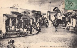 TUNIS La Rue De Sidi El Bechir Karte Gel.1913? - Tunisia