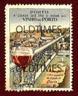 PORTUGAL - VINHO DO PORTO - UMA VISTA SOBRE A CIDADE - 1930 OLD ADVERTISING VIGNETTE - Portugal