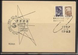 RUSSIA USSR Private Envelope LITHUANIA VILNIUS VNO-klub-039 Space Exploration Satellite Gagarin Titov Nikolaev Popovich - 1923-1991 USSR