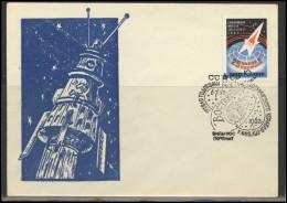RUSSIA USSR Private Envelope LITHUANIA VILNIUS VNO-klub-044 Space Exploration Vostok-2 Anniversary - 1923-1991 USSR