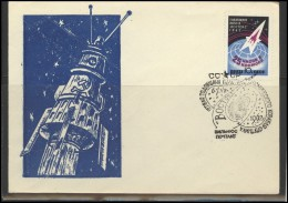 RUSSIA USSR Private Envelope LITHUANIA VILNIUS VNO-klub-046 Space Exploration Vostok-2 Anniversary - 1923-1991 USSR