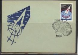 RUSSIA USSR Private Envelope LITHUANIA VILNIUS VNO-klub-048 Space Exploration Vostok-2 Anniversary - 1923-1991 USSR