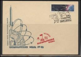 RUSSIA USSR Private Envelope LITHUANIA VILNIUS VNO-klub-049 Space Exploration Satellite - 1923-1991 USSR
