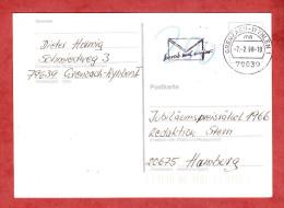 Unfrankierte Karte, MS Schreib Mal Wieder Grenzach-Wyhlen, 200 Pfg Nachgebuehr, Nach Hamburg 1998 (60938) - Lettres & Documents