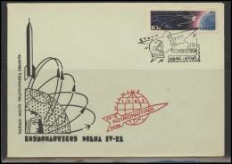 RUSSIA USSR Private Envelope LITHUANIA VILNIUS VNO-klub-050 Space Exploration Satellite - 1923-1991 USSR