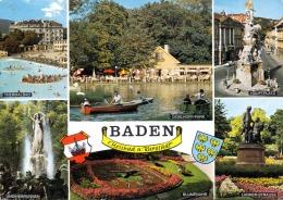 BADEN Bei Wien Mehrbilderkarte Gel.1972 - Baden Bei Wien