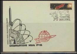 RUSSIA USSR Private Envelope LITHUANIA VILNIUS VNO-klub-051 Space Exploration Satellite - 1923-1991 USSR