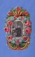 Heiligenbild Andachtsbild Goldprägebild Mit Foto Um 1900 - Santini