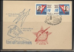 RUSSIA USSR Private Envelope LITHUANIA VILNIUS VNO-klub-55 Space Exploration Vostok-3 Vostok-4 Anniversary - 1923-1991 USSR