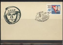 RUSSIA USSR Private Envelope LITHUANIA VILNIUS VNO-klub-56 Space Exploration Vostok-3 Vostok-4 Anniversary - 1923-1991 USSR