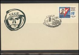 RUSSIA USSR Private Envelope LITHUANIA VILNIUS VNO-klub-58 Space Exploration Vostok-3 Vostok-4 Anniversary - 1923-1991 USSR