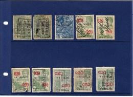 België 10 Fiskale Zegels, Verschillende Series - Revenue Stamps