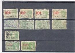 België 11 Fiskale Zegels, Verschillende Series - Revenue Stamps