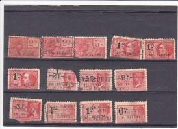 België 13 Fiskale Zegels, Verschillende Series - Revenue Stamps