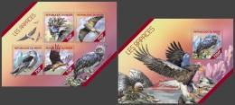 nig14215ab Niger 2014 Bird Eagle 2 s/s