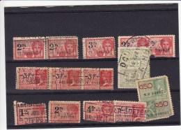 België 14 Fiskale Zegels, Verschillende Series - Revenue Stamps