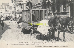CPA BERCHEM LEGENDESTOET 28 JUNI 1914 CLIMAN RUYSSERS ANVERS ANTWERPEN - Belgium