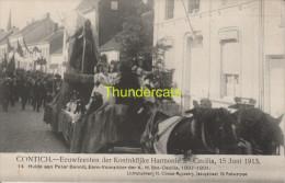 CPA CONTICH EEUWFEESTEN DER KONINKLIJKE HARMONIE SAINTE CECILIA 15 JUNI 1913  CLIMAN RUYSSERS ANVERS - Kontich