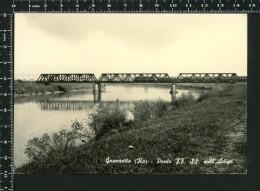 Granzette (Ro) - Ponte F.F. S.S. Sull'Adige - Treni Ferrovie - Viaggiata 1972 §§ - Non Classificati