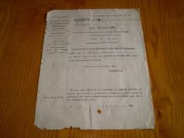 Arrondissement De Valence Drôme; Commune De Chatillon Saint Jean : Patente D'expert Pour L'année 1880 - France