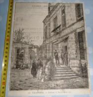 ANCIENNE GRAVURE DE 125 ANS UN PRISONNIER DE BERNE BELLECOURT - Vieux Papiers