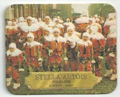 Stella Artois  - Folklore   -Binche -  Tekst Verschil - Beer Mats
