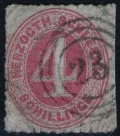 23 Hadersleben Auf 4 Shillinge Rot - Schleswig Holstein Nr. 3 - Pracht - Geprüft BPP - Schleswig-Holstein
