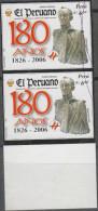 O) 2005 PERU, SIMON BOLIVAR, PERUVIAN JOURNAL, IMPERFORATE MNH - Peru