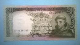 20 Vinte Escudos. 26-05-1964. Banco De Portugal. Serie: ETQ 26055 - Portogallo