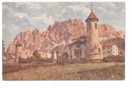 CORTINA ( BELLUNO ) CASTELLO DI ZANNA - BOZZETTI RIPRODOTTI IN TRICOMIA - ARTI GRAFICHE LONGO TREVISO - Italie