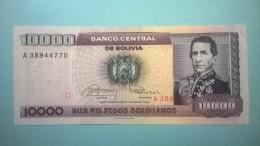 """BOLIVIE 10000 PESOS BOLIVIANOS """"FDS"""" - Bolivia"""