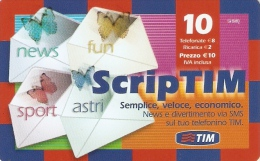 *ITALIA : TIM - SCRIPTIM (FOL-K)* - Ricarica Usata - Italië