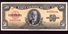 Cuba  50 pesos 1958 UNC