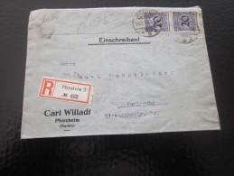 War Marcophilie Lettre Allemagne  Empire 3é Reich Deutsches Reich  Recommandé Einschreibenl Pferzhelm Baden > Karlsruhe - Briefe U. Dokumente