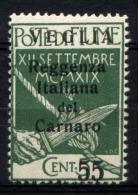 Veglia 1920 Sass.10 **/MNH VF/F - Arbe & Veglia