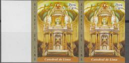O)2007 PERU, CHURCH-ALTAR OF LIMA, IMPERFORATE-YELLOW MNH - Peru