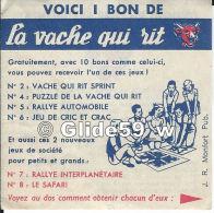 Bon De Commande De Jeux La Vache Qui Rit (années 60) - Publicités